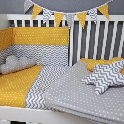 conjunto de edredon e protetor para cama de bebé da Gusca